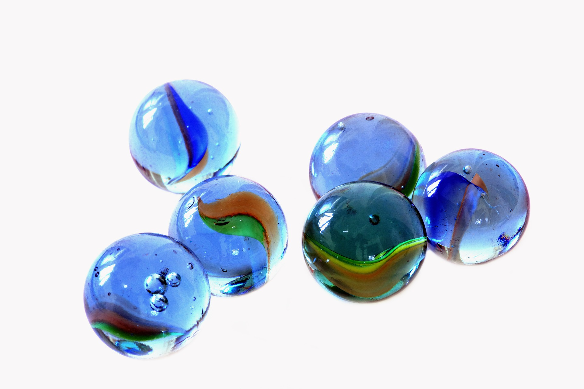 Small Blue Marbles transparent